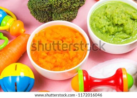 vegetable puree, carrots  pureed ,Broccoli pureed #1172016046