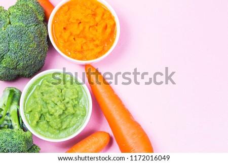 vegetable puree, carrots  pureed ,Broccoli pureed #1172016049