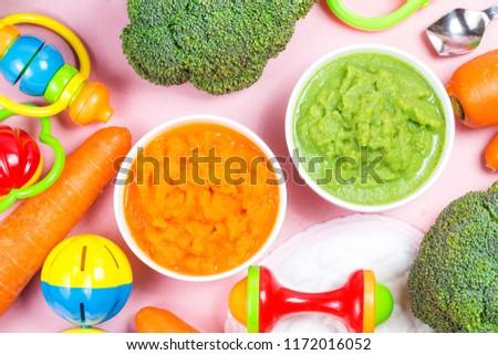 vegetable puree, carrots  pureed ,Broccoli pureed #1172016052