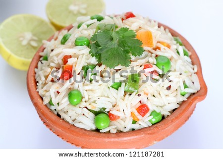 vegetable rice in bowl