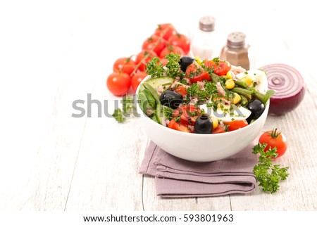 vegetable salad #593801963