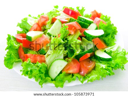 vegetable salad on plate