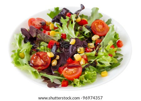 vegetable salad on the plate