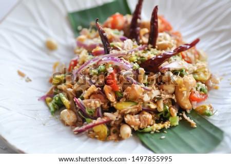 vegetable salad or spicy salad