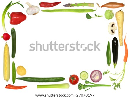 fruits and vegetables border. stock photo : Vegetable