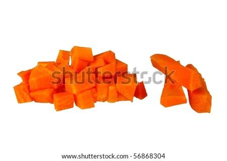 vegetable staple raw orange carrot isolated on white
