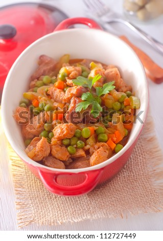 vegetable with meat