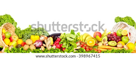 Shutterstock Vegetables and fruits.