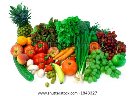 stock photo : Vegetables and Fruits Arrangement