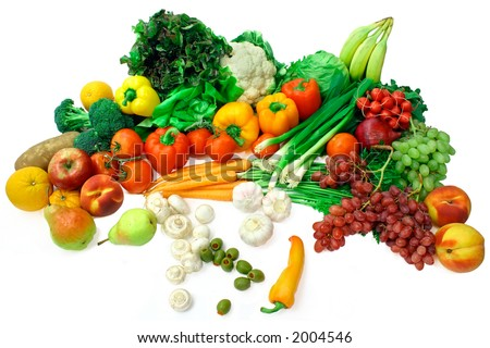 veggies and fruits. Vegetables and Fruits