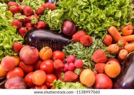 Vegetables and fruits, Diet and nutrition, France #1138997060