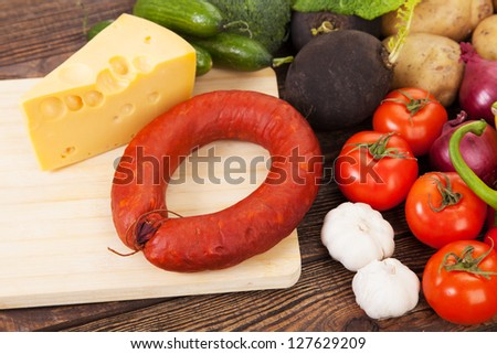 Vegetables assortment on a table