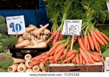 Vegetables at a country market