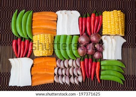vegetables background,set of vegetables