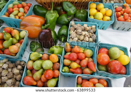 Vegetables For Sale at an Open Market