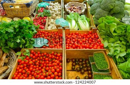 Vegetables for sale in a market in Amsterdam, Netherlands