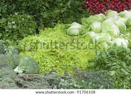Vegetables on market in San Jose, Costa Rica
