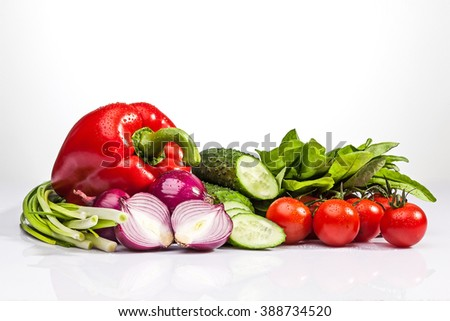 Vegetables on the white background #388734520