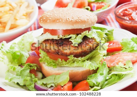 Vegetarian burger sandwich
