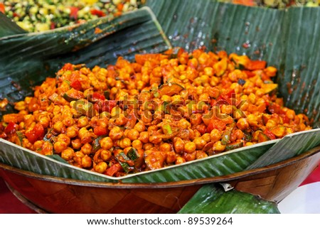 Vegetarian chickpeas meal traditional west Africa food