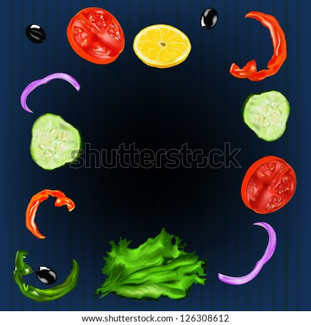 Vegetarian food. Menu cafe - stock photo