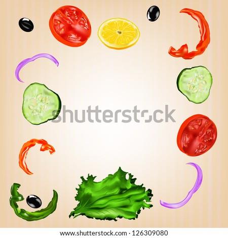 Vegetarian food. Menu cafe