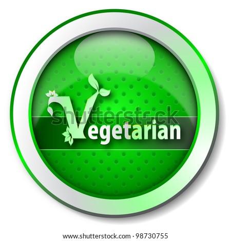 Vegetarian icon - stock photo