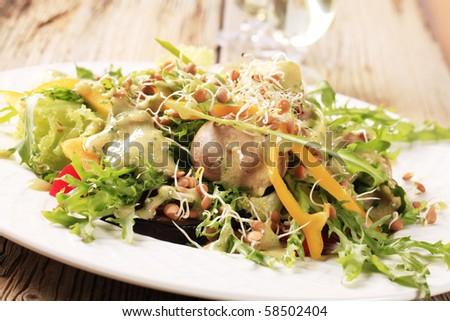 Vegetarian meal - stock photo