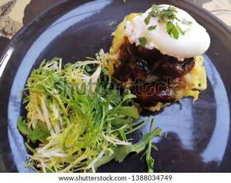 Vegetarian plate on a vegetarian restaurant