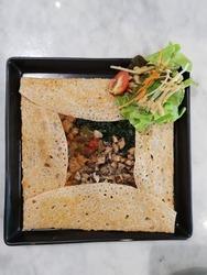 Vegetarian Ratatoille Crepe