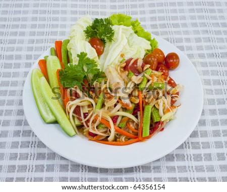 vegetarian somtum