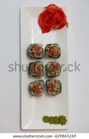 Vegetarian sushi #629865269