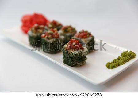 Vegetarian sushi #629865278