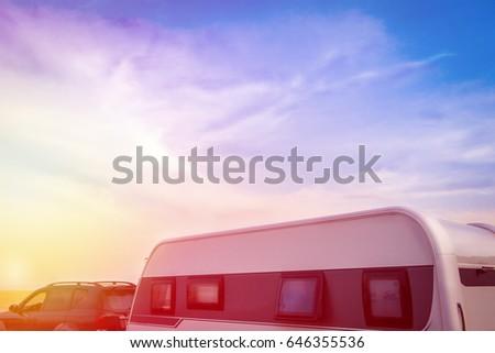 vehicle camping in beautiful...