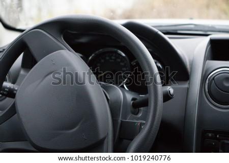 vehicle interior vehicle view windshield #1019240776