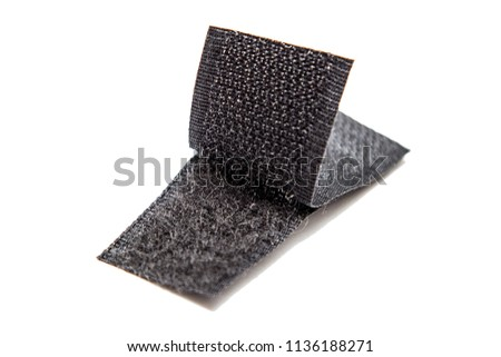Photo of  Velcro tape isolated on white
