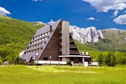 Velebit mountain lodge in Springtime, Lika, Croatia