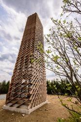 Velka Destna lookout tower in Orlicke Hory, Czech republic