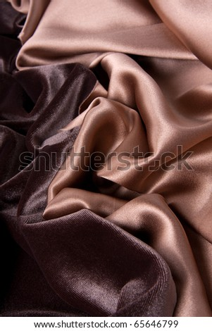 Velvet background in two chocolate/coffee with milk colors