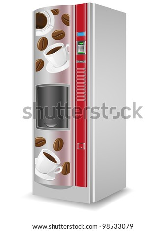 vending coffee is a machine illustration isolated on white background