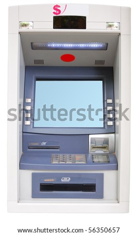 Vending Machine-ATM isolated on a white background