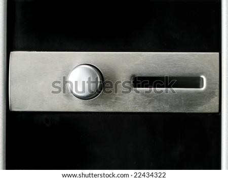 vending machine coin feeding hole
