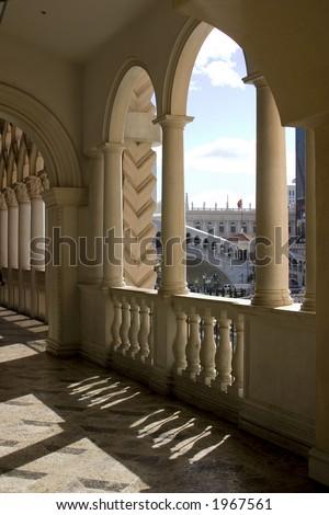 Venetian Balcony Columns and Arches in Las Vegas Nevada