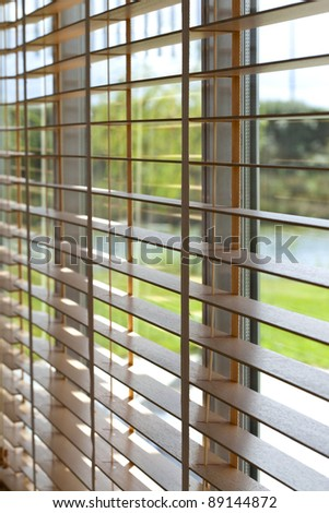 Venetian blind in a house