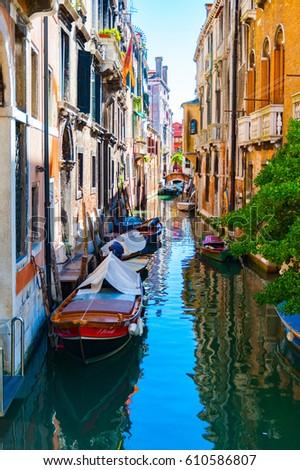 Venetian Canal - Italy #610586807