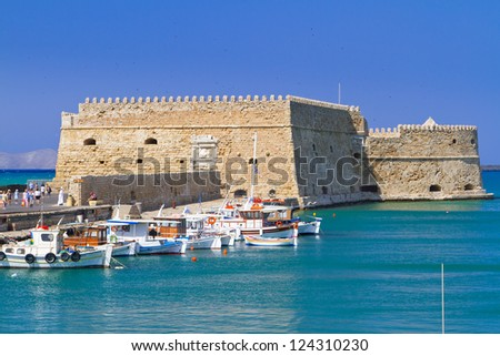 Venetian fortress Koules in Heraklion, Crete