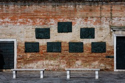 Venetian Ghetto wall in Venice city