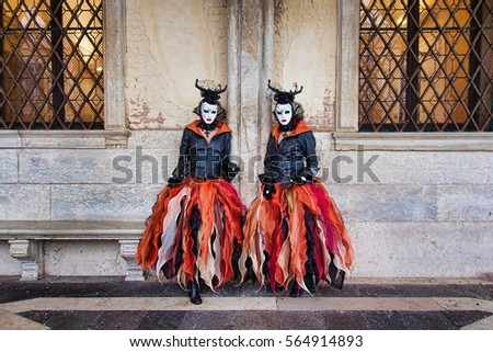 venetian masked model from the...