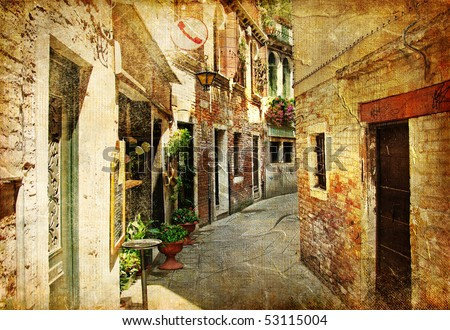 Venetian streets  - artwork in painting style