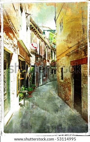 Venetian streets  - artwork in pianting style